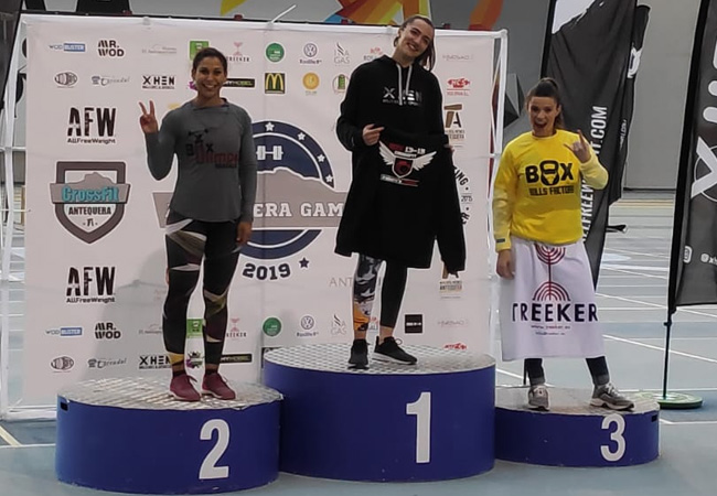 antequera games 2019 podium -escalado femenino