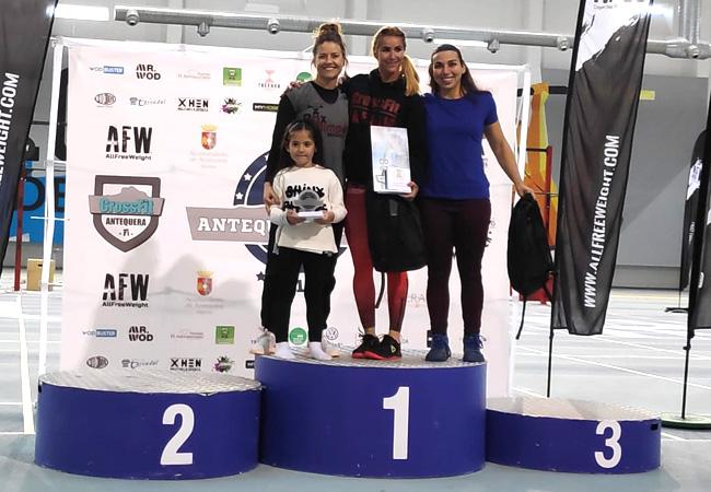 antequera games 2019 podium -master +35 femenino
