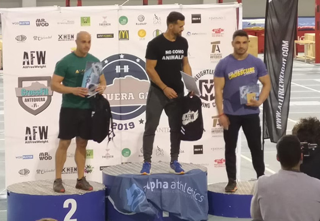 antequera games 2019 podium -master +35 masculino