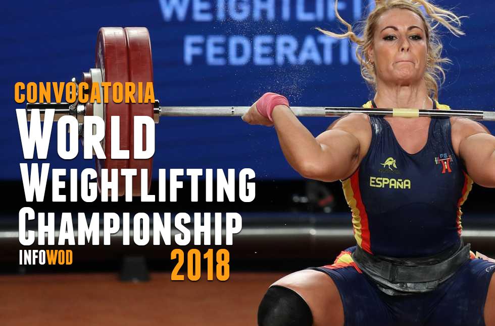 convocatoria world weightlifting championship