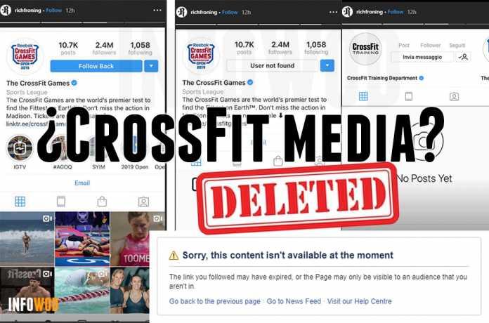 crossfit media redes sociales borradas deleted eliminadas suspendidas