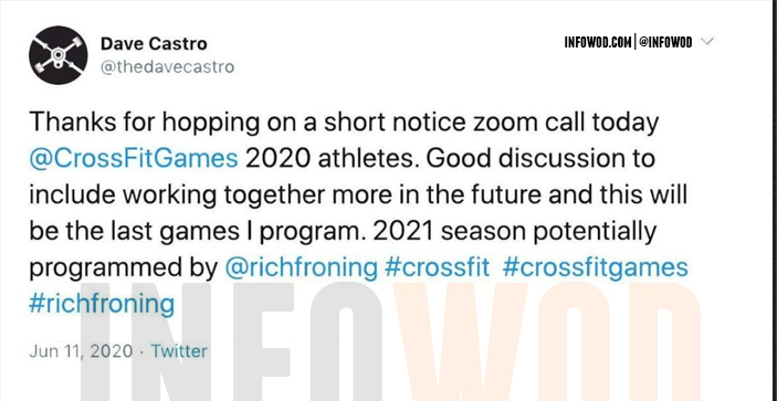dave castro propone a rich froning