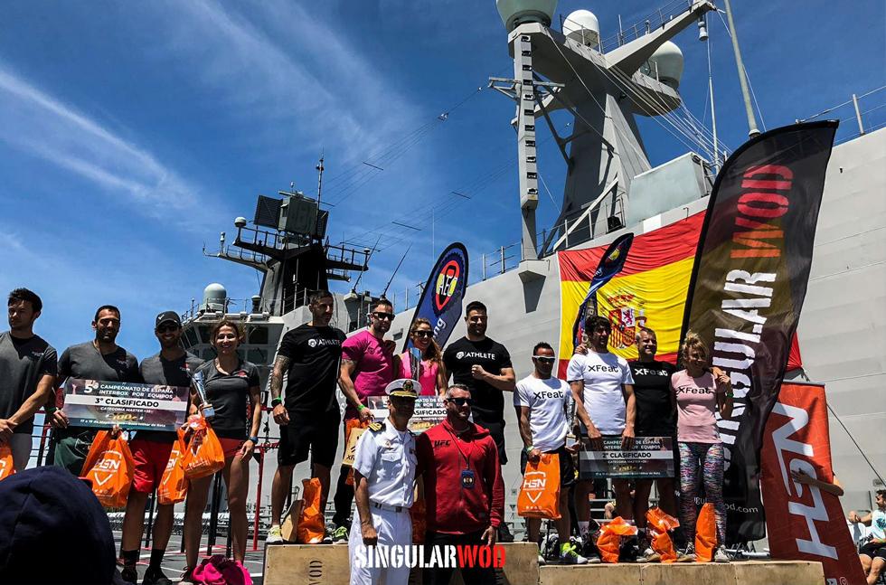 interbox 35 equipo crossfit 2019 evento barco marina militar rota portaviones