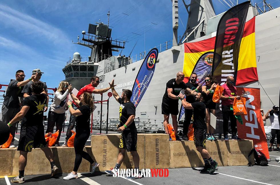 interbox 40 equipo crossfit 2019 evento barco marina militar rota portaviones