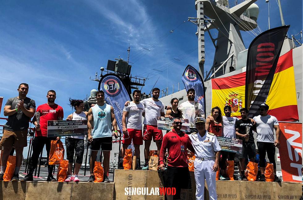 interbox rx equipo crossfit 2019 evento barco marina militar rota portaviones