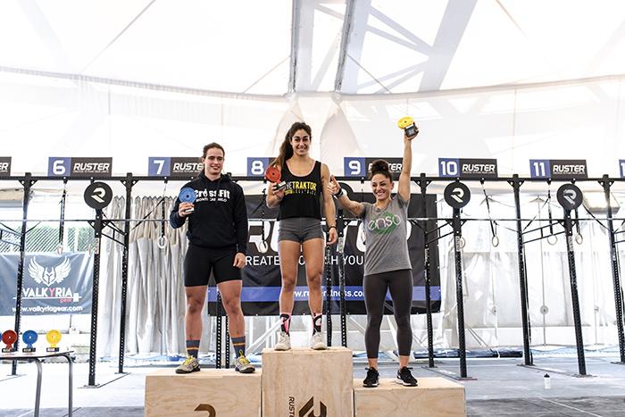 podium andalusi challenge 2018 rx categoria crossfit femenino