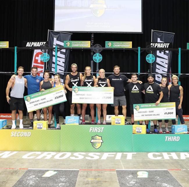podium equipos australian crossfit championship 2019
