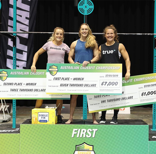 podium femenino australian crossfit championship 2019