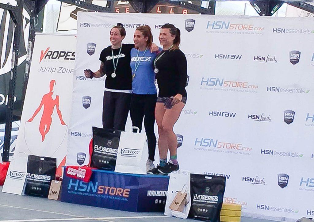 podium categoria 34 femenino andalusi challenge 2016 crossfit