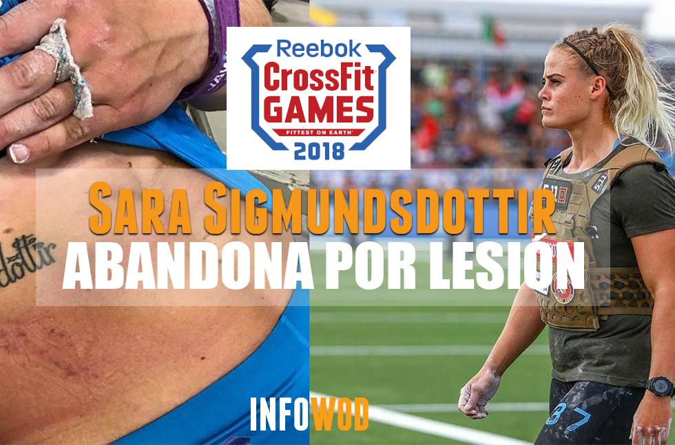 sara sigmundsdottir abandona se retira por lesion crossfit games 2018